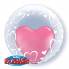 "24"" / 61cm Deco Bubble Stylish Heart Qualatex #29505"