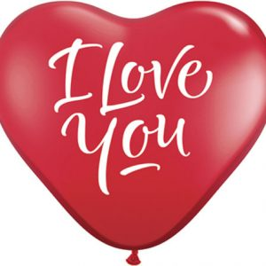 "3"" / 91cm 2ct / 2szt I Love You Script Modern Qualatex #29509"