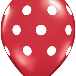"11"" / 28cm 25ct / 25szt Big Polka Dots Qualatex #29510"