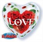 """22"""" / 56cm Love Roses Qualatex #33878"""