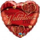 "18"" / 46cm Valentine""s Golden Filigree Qualatex #34470"