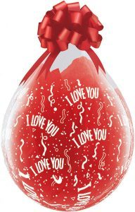 "18"" / 46cm 25ct / 25szt I Love You A Round Qualatex #37549"