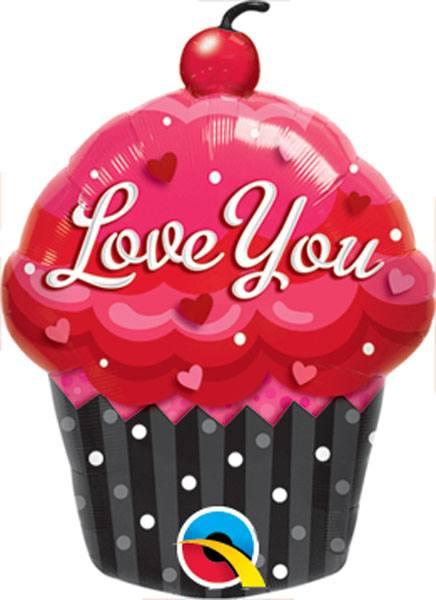 "35"" / 89cm Love You Cupcake Qualatex #16352"