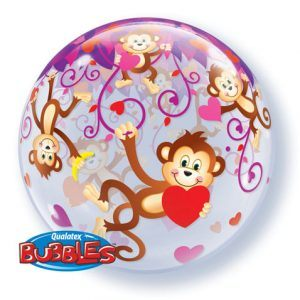 "22"" / 56cm Love Monkeys Qualatex #40193"