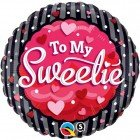 "18"" / 46cm To My Sweetie Hearts & Dots Qualatex #40853"
