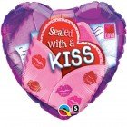 "18"" / 46cm Valentine Sealed With A Kiss Qualatex #40855"