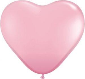 11″ / 28cm Solid Colour Heart Latex Pink Qualatex #43727_1