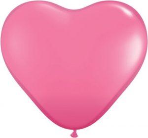 11″ / 28cm Solid Colour Heart Latex Rose Qualatex #43731-1