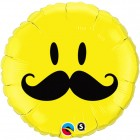 "18"" / 46cm Smile Face Mustache Qualatex #60053"