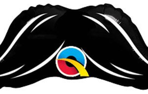"12"" / 38cm Mini Mustache Qualatex #65052"