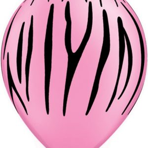 "11"" / 28cm 50ct / 50szt Zebra Stripes Qualatex #76890"