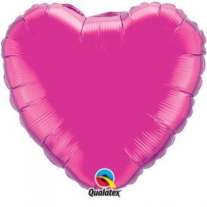 Solid Colour Heart Magenta Qualatex
