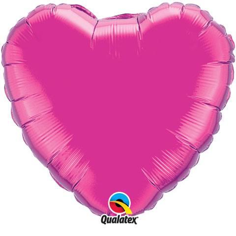 18″ / 46cm Solid Colour Heart Microfoil Magenta Qualatex #99335