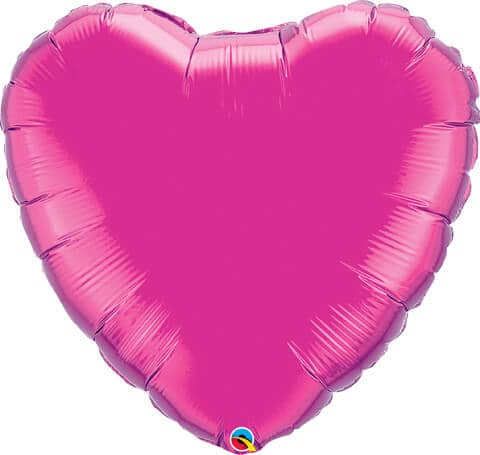 "36"" / 91cm Solid Colour Heart Magenta Qualatex #99338"