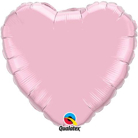 "18"" / 46cm Solid Colour Heart Pearl Pink Qualatex #11855"