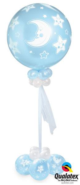 Bukiet 5# – 30″ / 76cm Baby Moon & Stars A Round #32122, 47673