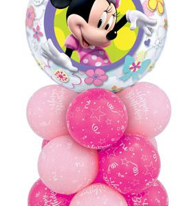 "Bukiet 13# - 22"" / 56cm Disney Mini Mouse Bow Tique Qualatex #41065, 25588, 36711, 43642"