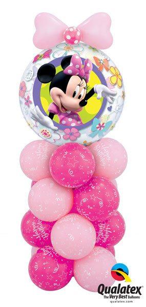 """Bukiet 13# - 22"""" / 56cm Disney Mini Mouse Bow Tique Qualatex #41065, 25588, 36711, 43642"""