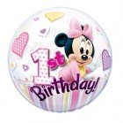 "22"" / 56cm Disney Minnie Mouse 1st Birthday Qualatex #12862"