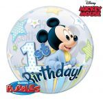 "22"" / 56cm Disney Mickey Mouse 1st Birthday Qualatex #12864"