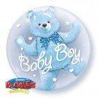 "24"" / 61cm Baby Blue Bear Qualatex #29486"