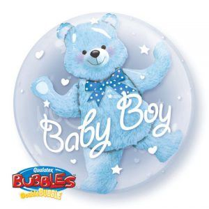 "24"" / 61cm Baby Blue Bear Qualatex #29486"