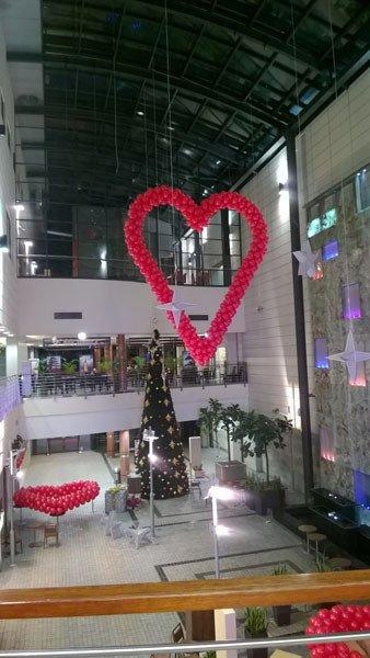 Mega Serce widoczne z pierwszego piętra