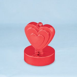 150g Heart Shaped Weight Red
