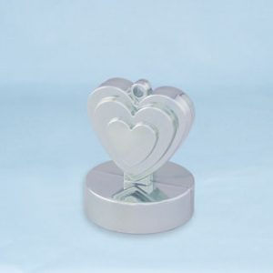 150g Heart Shaped Weight Silver #12480