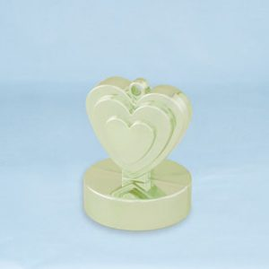 150g Heart Shaped Weight Champagne Ivory #13336