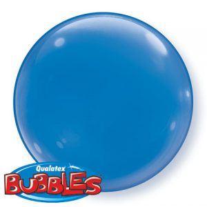 """15"""" / 38cm 4ct / 4szt Dark Blue Deco / Solid Colour Bubble Qualatex #21336"""