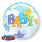 "22"" / 56cm Baby Boy Moon & Stars Qualatex #23597"