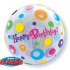 "22"" / 56cm Birthday Cupcake & Dots Qualatex #23606"
