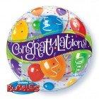 """22"""" / 56cm Congratulations Balloons Qualatex #27564"""