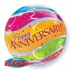"22"" / 56cm Anniversary Colourful Bands Qualatex #27565"