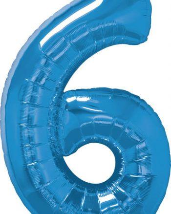 "42"" / 106cm x 34"" / 86cm wysokość Number Six Sapphire Blue Qualatex #30535"