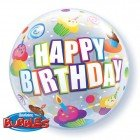 "22"" / 56cm Birthday Colourful Cupcakes Qualatex #30799"