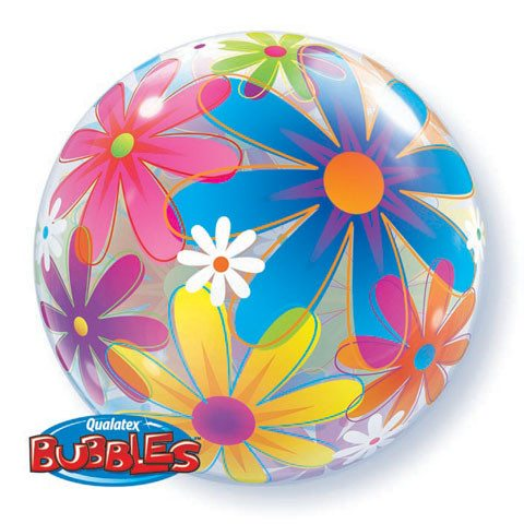 "22"" / 56cm Fanciful Flowers Qualatex #32302"