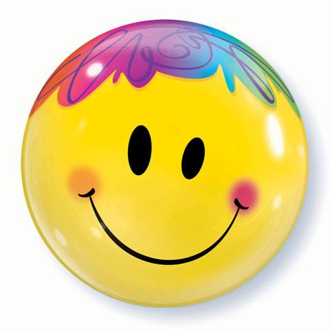 "22"" / 56cm Bright Smile Face Qualatex #35173"