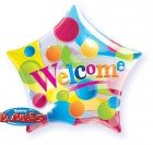 "22"" / 56cm Welcome Big Dots Qualatex #36766"