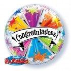 "22"" / 56cm Congratulations Banner Blast Qualatex #41190"