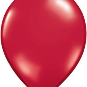 Solid Colour Latex Ruby Red Qualatex