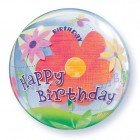 "22"" / 56cm Birthday Funky Flowers Qualatex #68650"