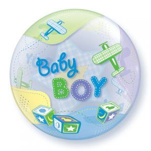 "22"" / 56cm Baby Boy Airplanes Qualatex #69728"