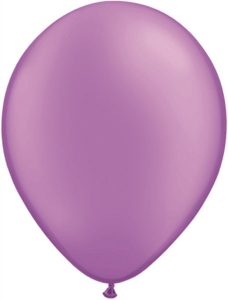 "11"" / 28cm 100ct / 100szt Solid Colour Latex Neon Violet Qualatex #74576"