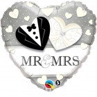 "18"" / 46cm Mr. & Mrs. Wedding Qualatex #15771"