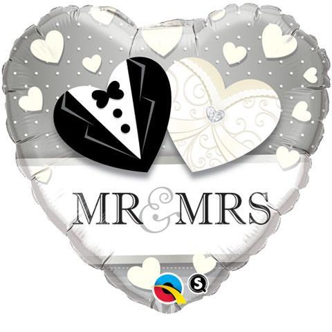 "18"" / 46cm Mr. & Mrs. Wedding Qualatex #15771"