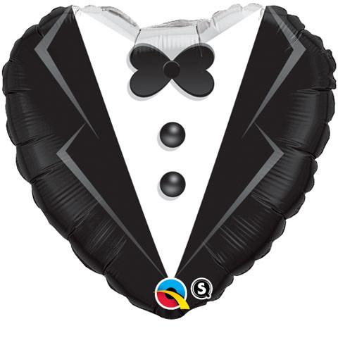"18"" / 46cm Wedding Tuxedo Qualatex #15784"
