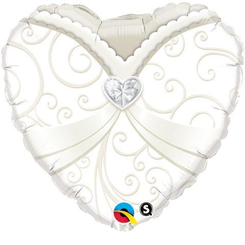 """18"""" / 46cm Wedding Gown Qualatex #15791"""