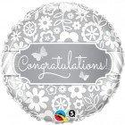 """18"""" / 46cm Congratulations Butterflies Qualatex #17074"""